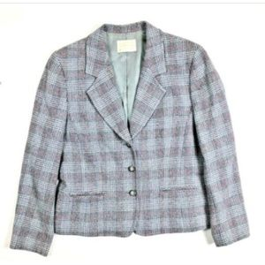 Pendleton Vintage 10 Wool Red Black Blazer Jacket